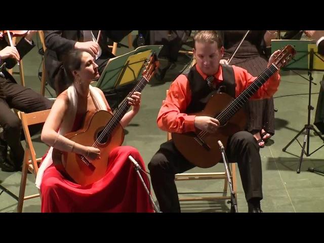 Duo Tamayo-Montesinos performing Concierto Madrigal at Pittalugas Finals