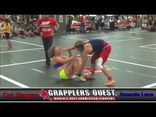 Submission Match - Alpha Cat Zingano vs Amanda Leve at Grapplers Quest Vegas Free UFC 200 Promo