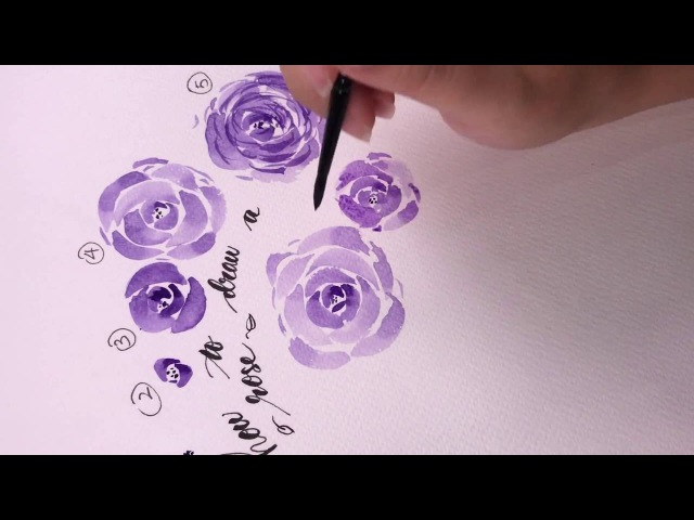 Watercolor rose tutorial - A step by step guide