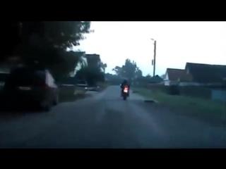 Погоня дпс за мотоциклом. красиво ушел от погони в конце
