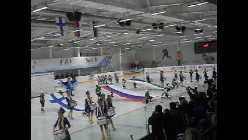 Фееричное открытие первого междунородного турнира по хоккею в г. Кингисеппе!