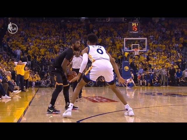 Kyrie Irving Crosses Up Patrick McCaw Game 5 Cavaliers vs Warriors 2017 NBA Finals