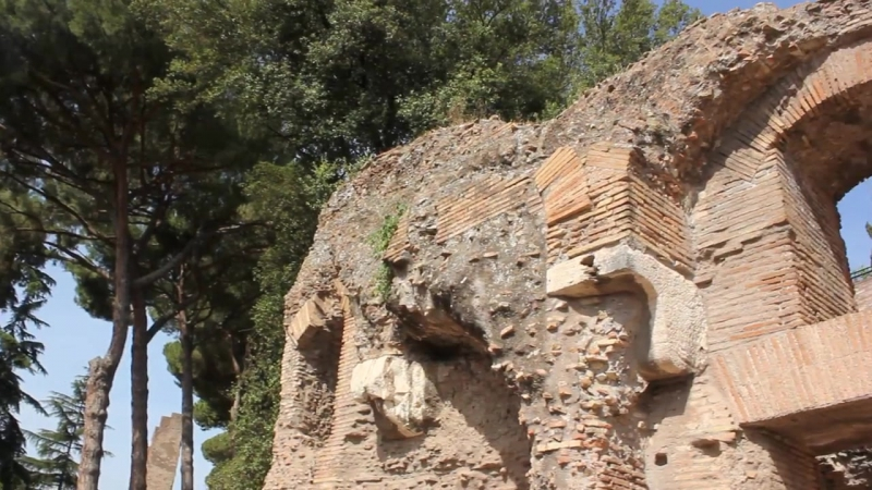 Rome. Palatino. Music and cicadas.