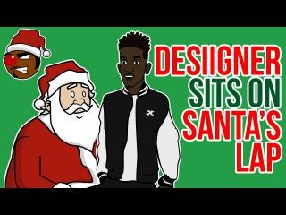 Desiigner Sits on Santa's Lap
