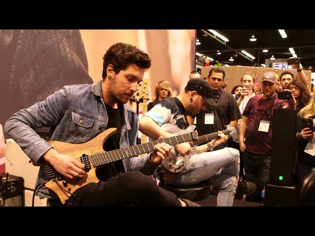 NAMM 2017: Plini Aaron Marshall Live At The Dunlop Booth -Pt 1