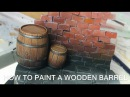 How to paint a wooden barrel?