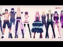 【MMD X One Piece】1 2 3【Ace, Basil, Baby5, Boa, Koala, Law, Robin, Sanji, Perona, Zoro】