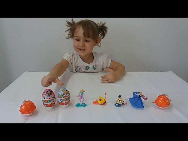 Миньоны Маша и Медведь Три Богатыря Барби Киндер сюрприз игрушки