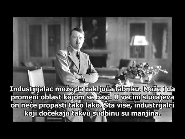 Adolf Hitler O ekonomskom sistemu srpski prevod