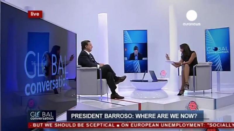 Euronews Євроньюз Євроновини Жозе Мануел Баррозу у програмі Глобальна розмова 12 вересня 2013