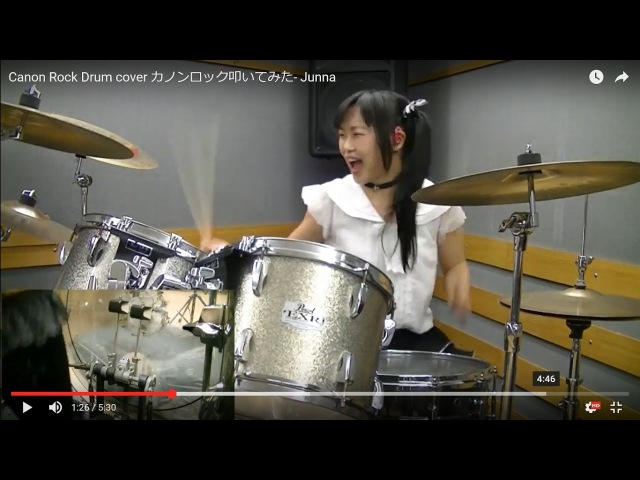 Canon Rock Drum cover Junna カノンロック叩いてみた