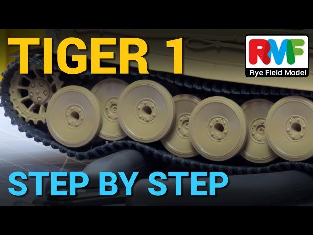5 TIGER I Rye Field Model Step by Step Workable Tracks Orugas