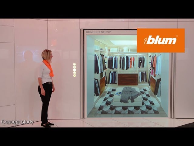 Blum at interzum 2017 concept study for extremly large fronts