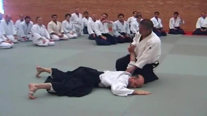 2006 Birankai Aikido Summer School Tsuruzo Miyamoto Shihan ushiro ryote dori