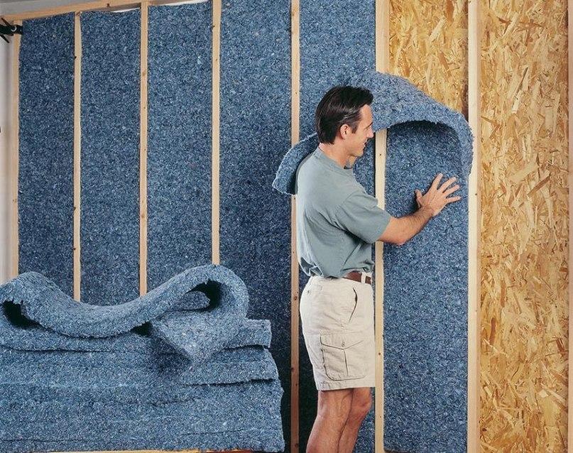 Звукоизоляция стен с помощью хлопко-волоконных материалов