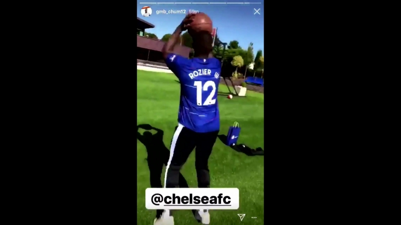 Terry Rozier getting buckets in a Chelsea jersey - - via @T_Rozzay3 IG