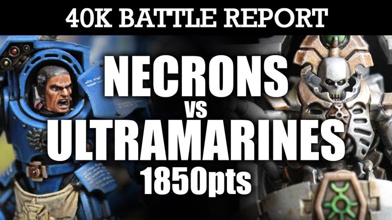 Necrons vs Ultramarines Warhammer 40k Battle Report CLASSIC SHOWDOWN! 6th Edition 1850pts | HD Video