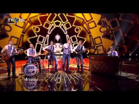 HD Eurovision 2011 Iceland Sjonni's Friends Coming Home Semi Final 1