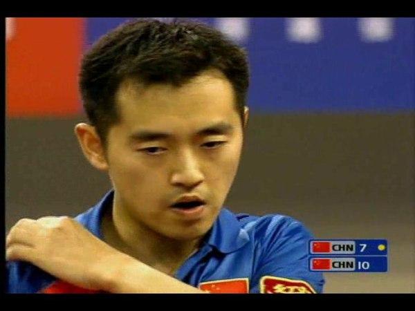 Table Tennis Chen Qi vs Kong Linghui WTTC 2005