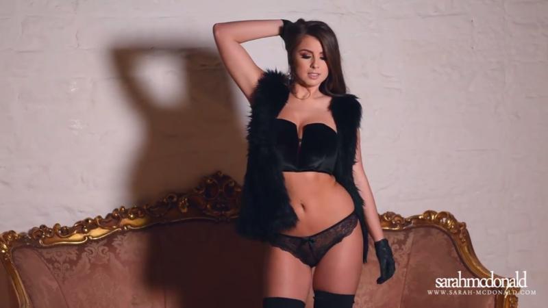 Sarah Mc Donald in black panties fur