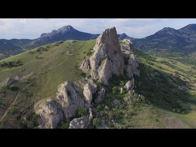 Кара Даг Коктебель Вид на потухший вулкан с высоты птичьего полета