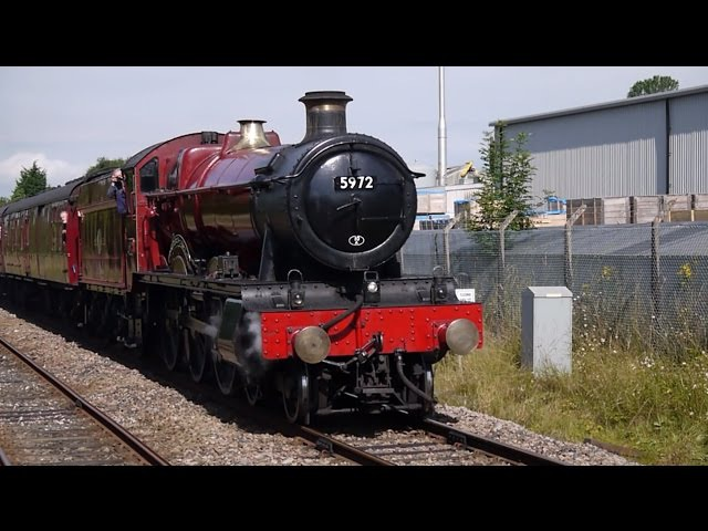 GWR Hall Class 4 6 0 no 5972 Olton Hall Hogwarts Castle Wizards Express Bentham 12th July 2014