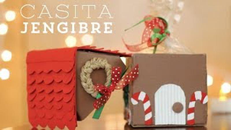 Casita de Jengibre Caja y regalito de navidad