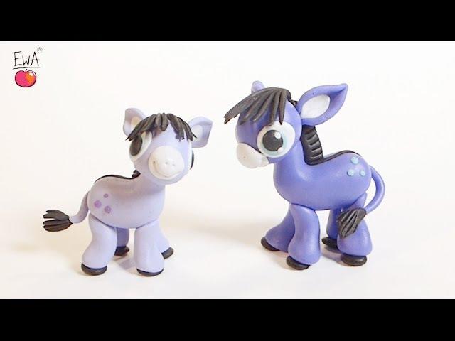 Donkey Osiołek polymer clay tutorial