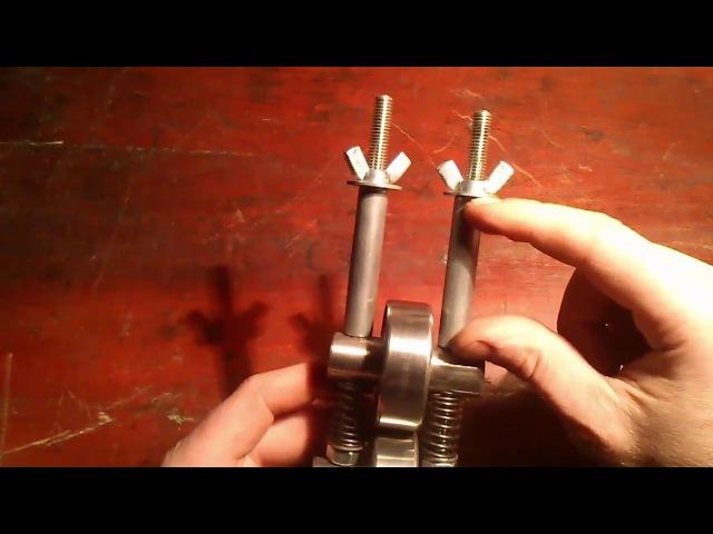 010 Создаем простейшие ювелирные вальцы своими руками Creating Rolling Mild hand rolling mill