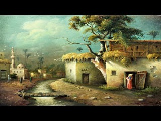 Oil Painting Landscape Egyptian Village By 4 Colors With Yasser Fayad