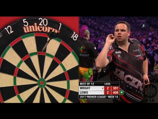 Peter Wright vs Adrian Lewis (2017 Premier League Darts / Week 14)
