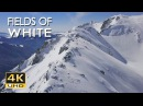 4K Fields Of White Snowy Mountains Nature Video Relaxing Ambient Music Ultra HD 2160p