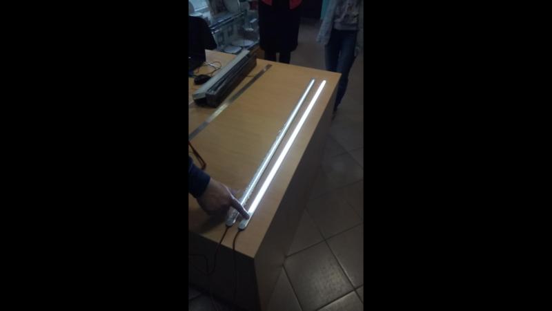 Линейный светильник с диммируемым сенсорным выключателем