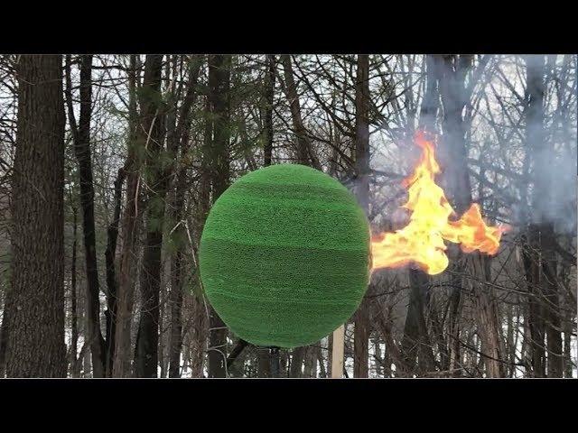 42,000 Match Sphere Gets Lit (2018)   Сфера 42000 спичек