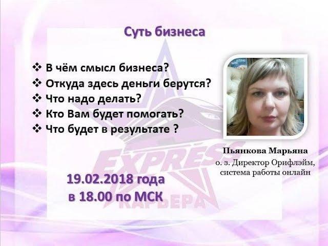 Суть бизнеса.19.02.2018 Пьянкова Марьяна