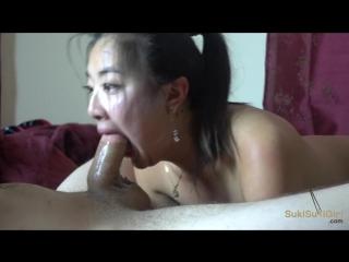 Sloppy head @sukisukigirl rough throat fucking in hd
