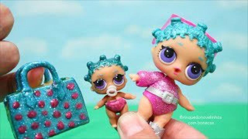 Hatchimals Bonecas LOL Surpresa Uma Nova Irmãzinha Lil Sister Para a Cosmic Queen