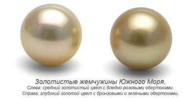 рис. Обертона золотистых жемчужин