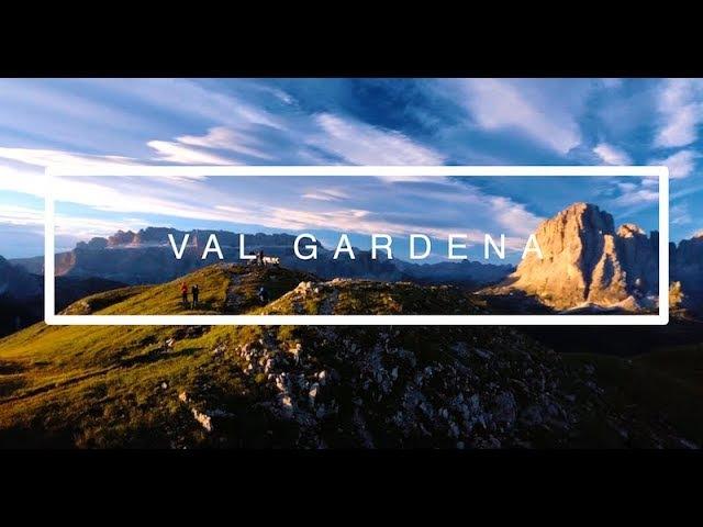 4K ALTO ADIGE SOUTH TYROL SÜDTIROL GROEDEN VAL GARDENA DOLOMITES WITH DRONE