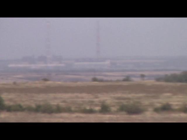 Углегорская ТЭС. Вид с поезда следующего из Дебальцево в сторону Горловки.