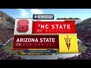 NCAAF 2017 / Hyundai Sun Bowl / (24) North Carolina State Wolfpack - Arizona State Sun Devils / 2H /  / EN