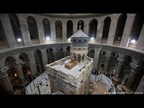 Очікування Благодатного Вогню у Храмі Гробу Господнього (Єрусалим)