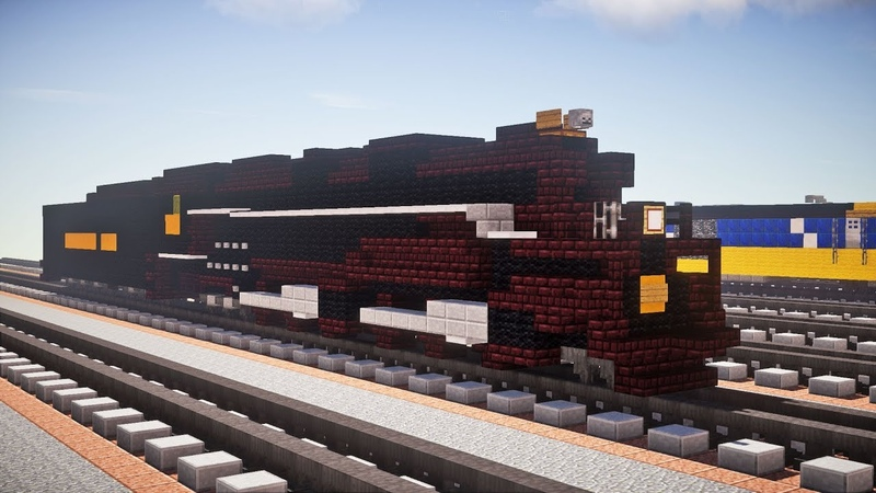 Minecraft C O Allegheny Steam Locomotive Tutorial