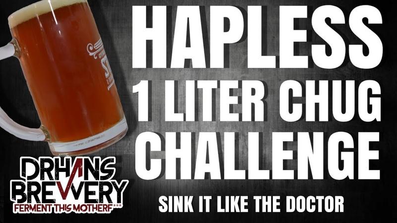 Hapless 1 Liter Beer Chug Challange