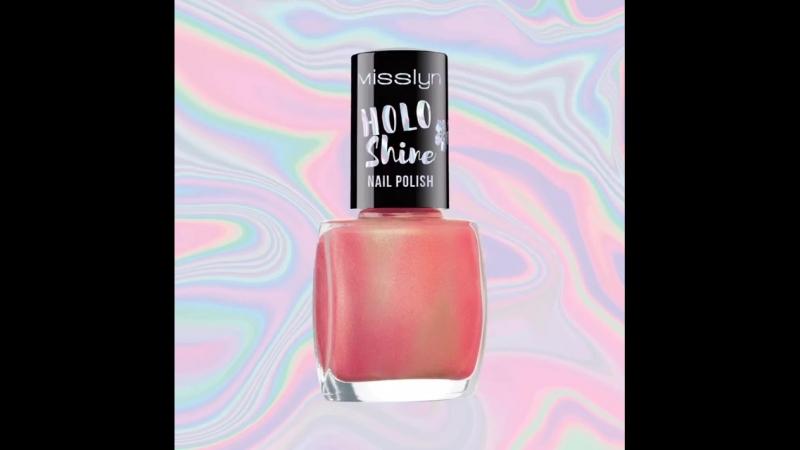Лаки для ногтей из новой коллекции Holo Mania от Misslyn