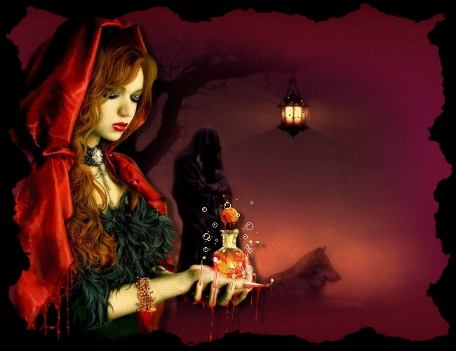 Анимация картинки с ведьмами, стране