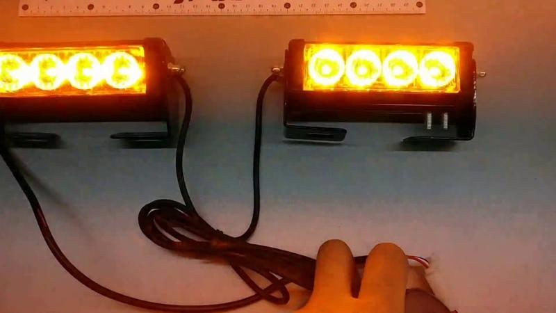 Стробоскоп светодиодный,фара вспышка, S5-4 LED комплект gv-auto.com.ua