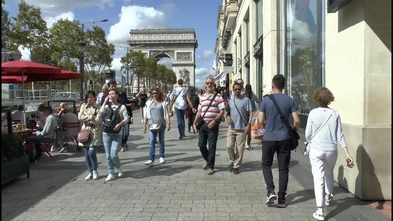 Walk around Paris France Bastille Rivoli Louvre Arc de Triomphe