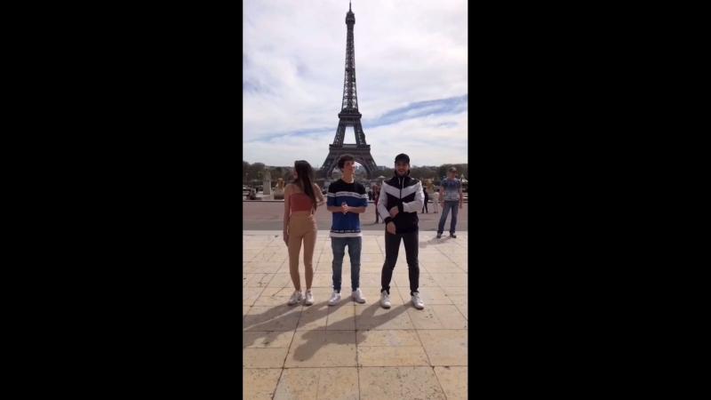 Enjoying Paris with @hunterrowland and @maximedslv ♥️