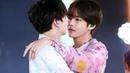 Tae send kiss to jk, jk acting tough bunny,taekook being a teasevkook moments compilation analysis